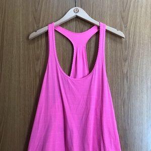 Lululemon 105 F Singlet Silver Pink Size 8
